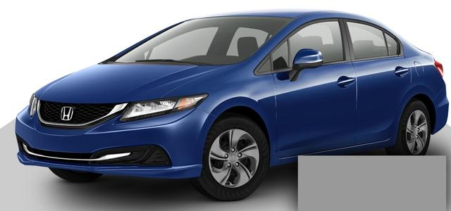 2013-Honda-Civic-синий цвет