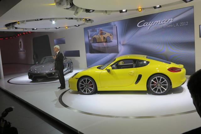 новинка Porsche - Cayman представлена на автошоу 2012 в Лос-Анджелесе